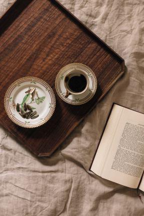 Teas on tray