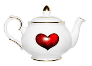 Rory Dobner |Red Love Heart Teapot