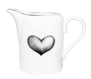Rory Dobner | Black Love Heart Milk Jug