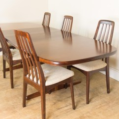 Skovby Rosewood Dining Chairs Revolving Chair Without Arms Vintage Retro Danish Extending Table And 6