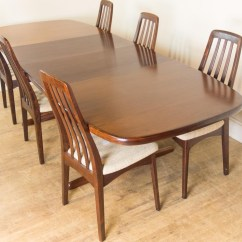 Skovby Rosewood Dining Chairs Diy Hourglass Time Out Chair Vintage Retro Danish Extending Table And 6