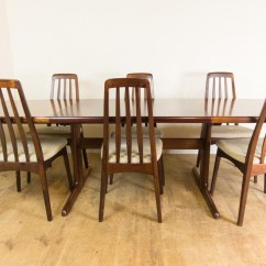 Skovby Rosewood Dining Chairs Upholstered Room Chair Covers Vintage Retro Danish Extending Table And 6