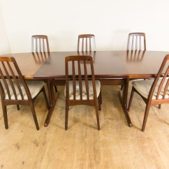 Skovby Rosewood Dining Chairs Two Seater Uk Vintage Retro Danish Extending Table And 6