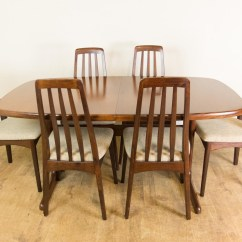 Skovby Rosewood Dining Chairs Room Chair Covers Clear Vintage Retro Danish Extending Table And 6
