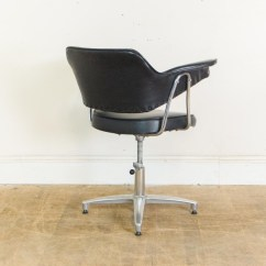Recovering Chair Cushions Vinyl Set Of Two Accent Chairs Vintage Retro Adjustable Black Desk Office