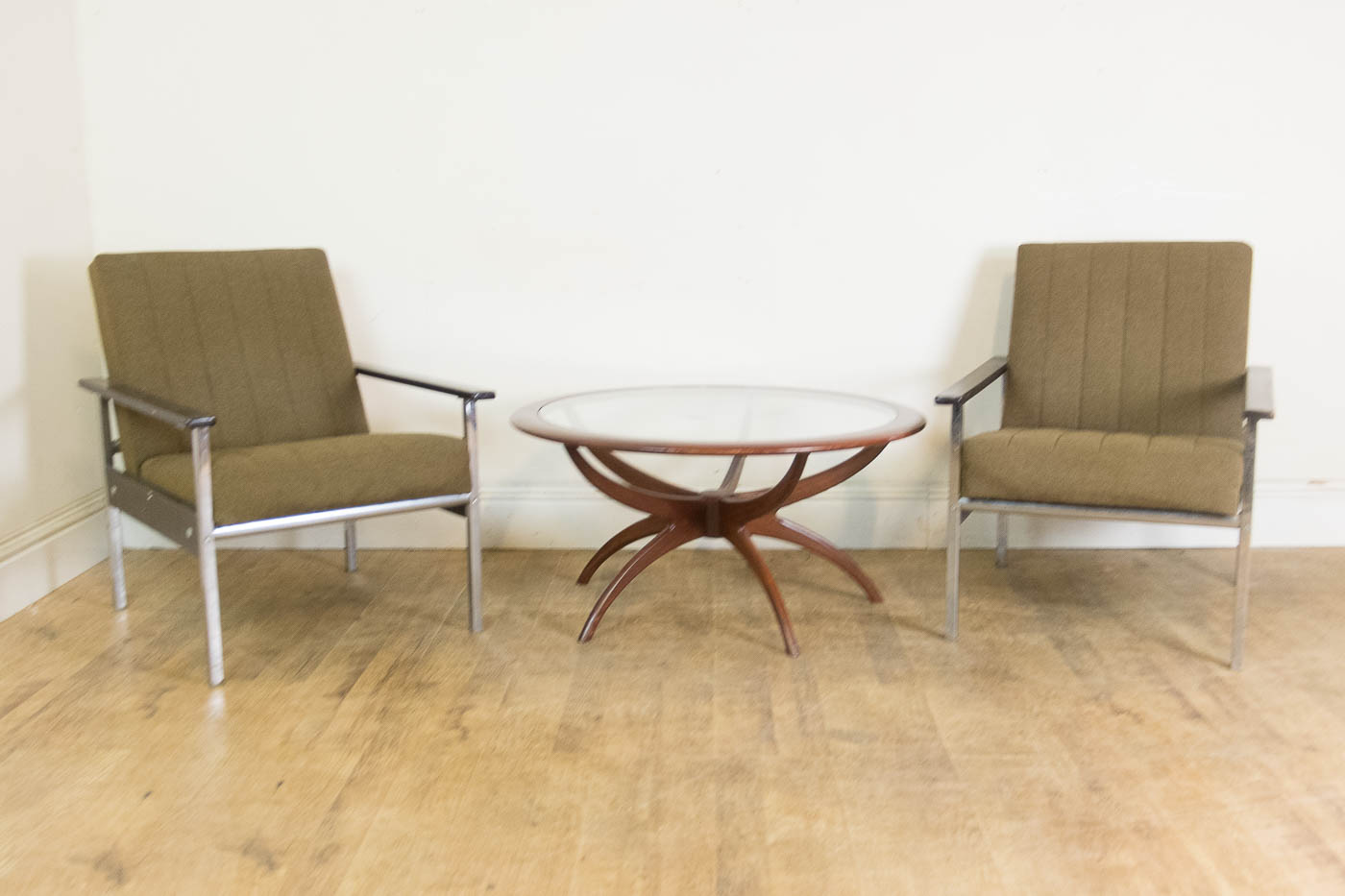 retro chrome chairs design chair online shop pair of vintage teak and office lounge