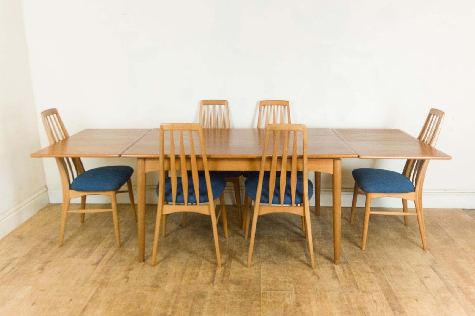 retro dining table chairs uk wayfair kitchen with arms vintage danish teak and 6 eva