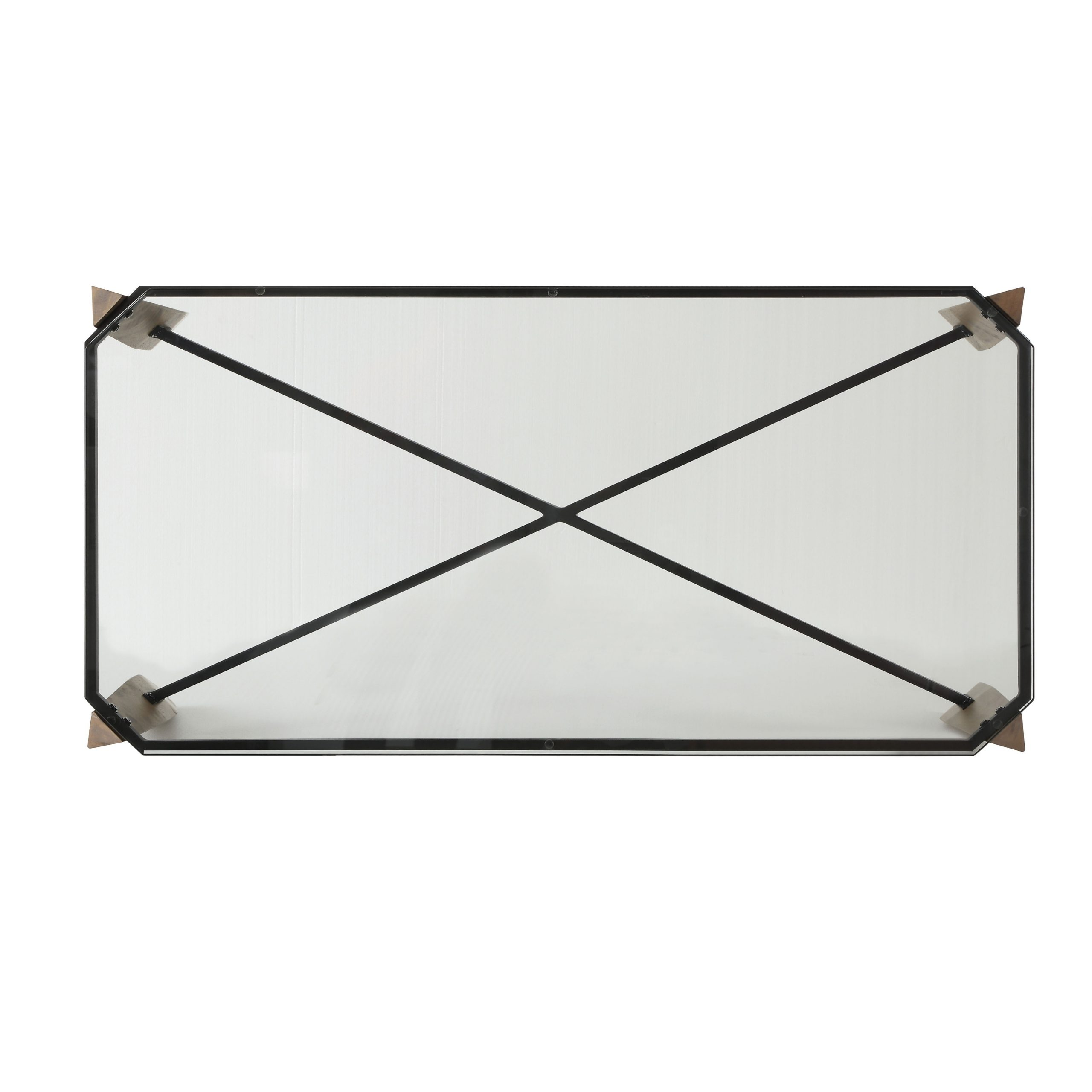 buy contemporary glass top coffee table online teaklab