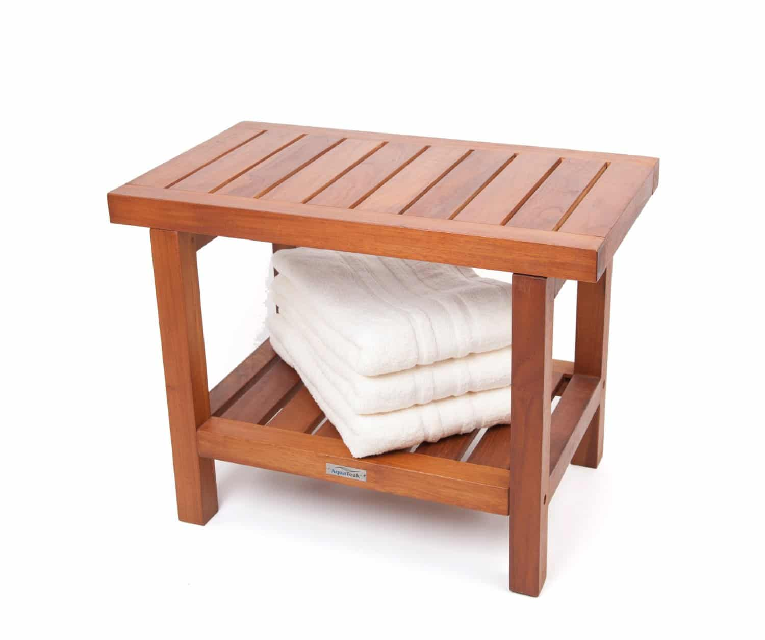 shower chair vs bench arm walmart double asian teak stool or patio