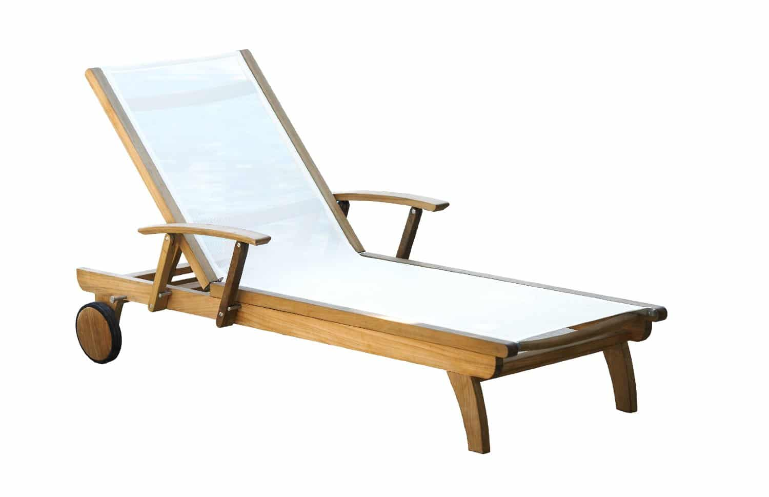 Teak Chaise Lounge Chairs Three Birds Casual Riviera Teak Lounger White Teak Patio