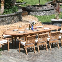 Large Round Patio Table And Chairs Black Folding Chair Covers For Sale 5 Piece Luxurious Grade A Teak Dining Set 48 Quot
