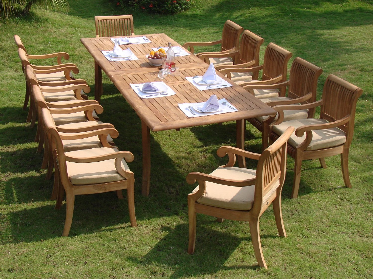 7 Piece Teak Outdoor Dining Set Antigua Teak 7 Piece Outdoor