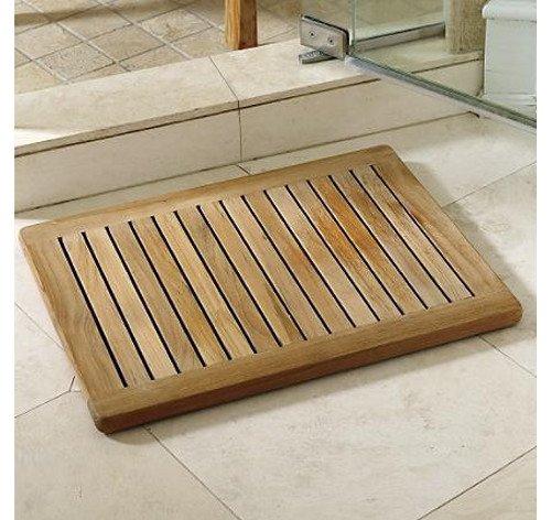 The Luxury Of A Teak Shower Mat Teak Patio Furniture World