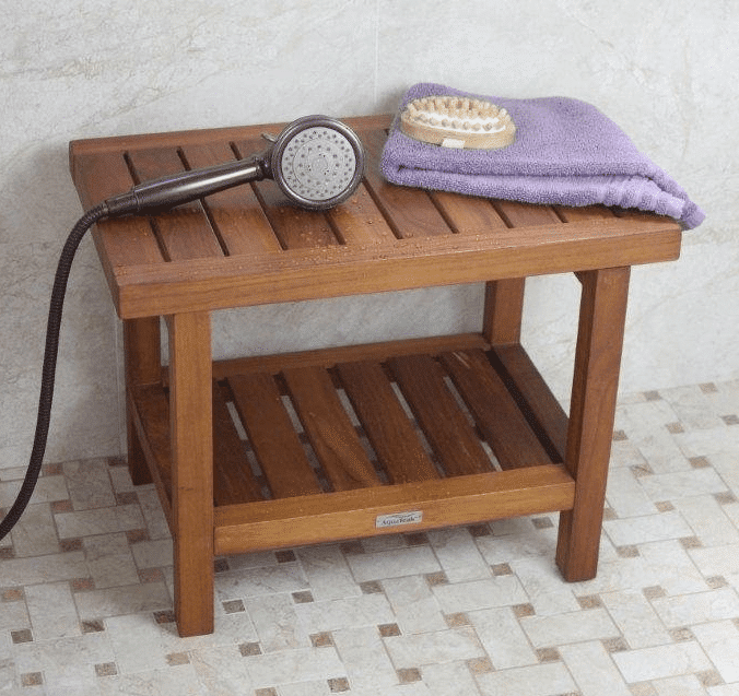 teak shower chairs with arms steel case how to clean and maintain furniture patio