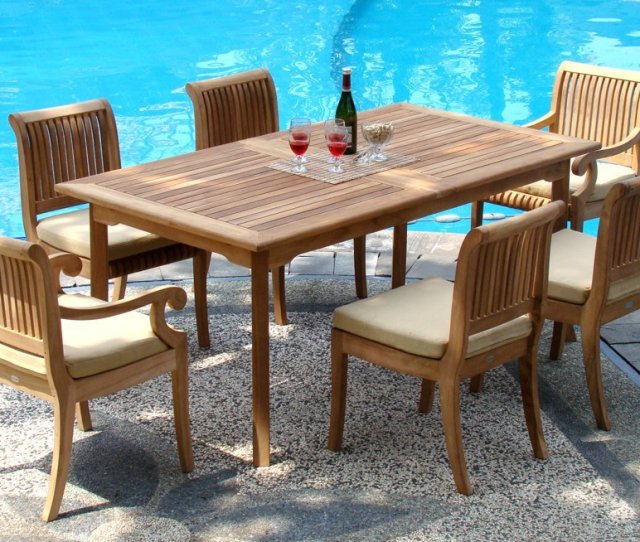 Piece Teak Dining Set Giva Chairs