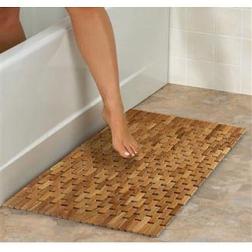 Conair Home Pollenex Solid Teak RollUp Folding Shower Spa Mat Review  Teak Patio Furniture World
