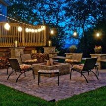 Top Outdoor String Lights Holidays - Teak Patio