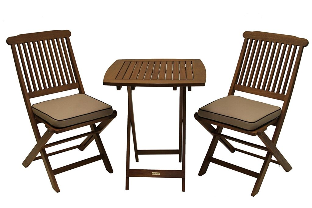 small outdoor patio table and chairs macrame swing chair pattern best eucalyptus hardwood furniture sets in 2018 teak interiors 3 piece square bistro set
