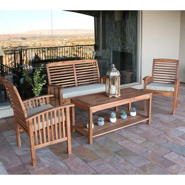 best acacia wood outdoor furniture for 2018 - teak patio furniture world