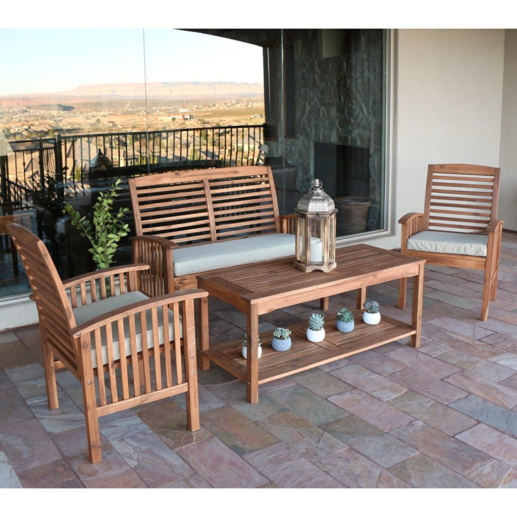 Wood Outdoor Chairs Best Acacia Wood Outdoor Furniture 2019 Buying Guide
