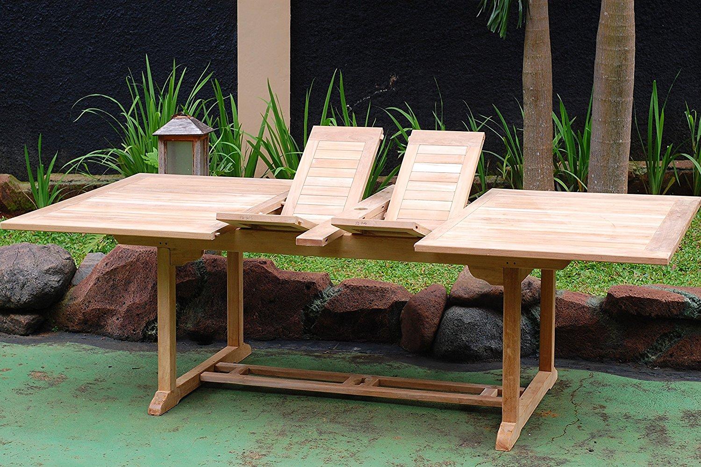 Jonàk solid teak table, seats 6/8. Windsor 15-Piece Teak Dining Set Review - Teak Patio ...