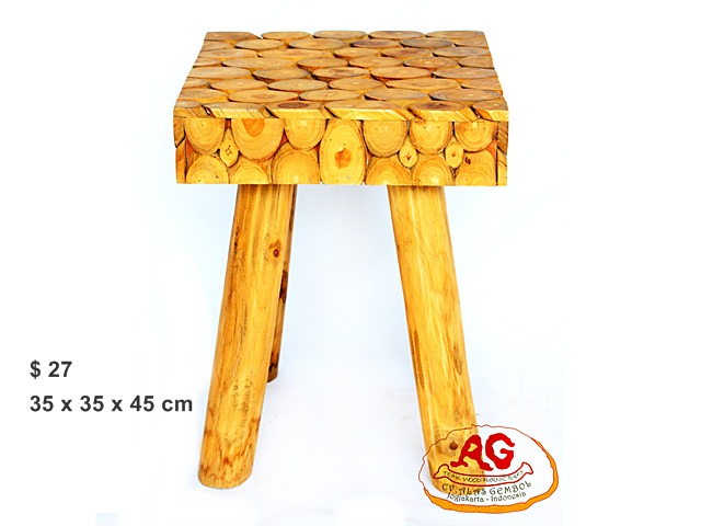 Square Teak Stool Wood pieces