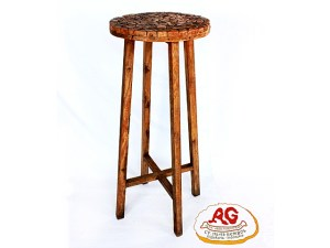 Round Bar Stool Wood Pieces