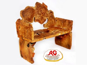 Teak Root Bench Slices