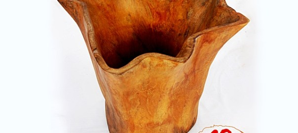 Natural Wooden Pot