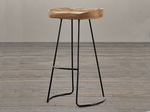 Oval Bar Stool Iron Leg