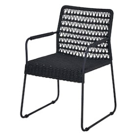 Woven rope and aluminum arm chair
