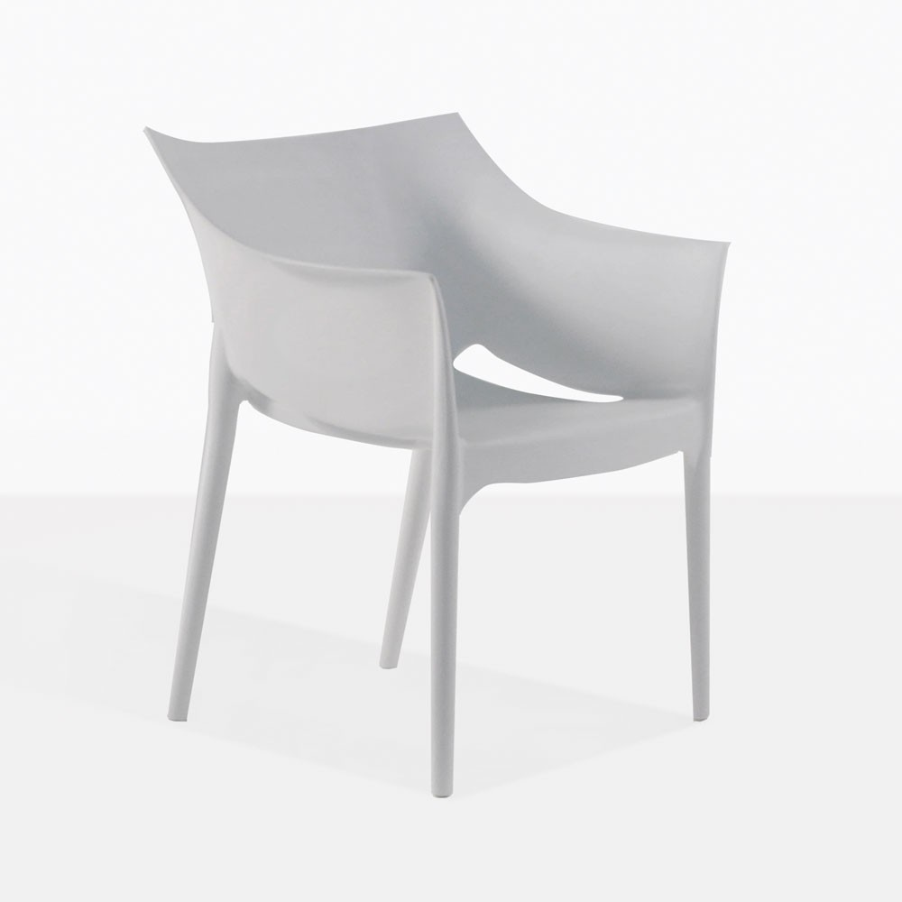 White Wing Chair Wing Outdoor Chair In Polypropylene Grey