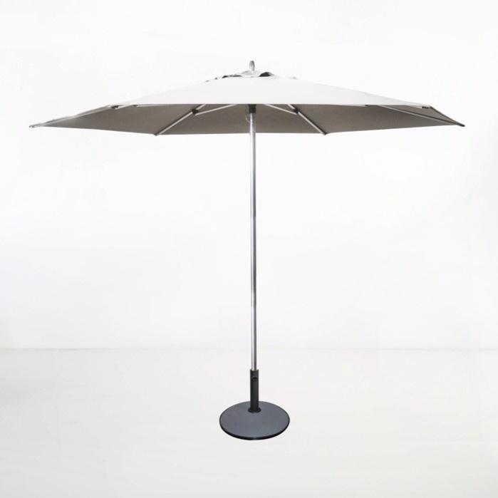 tiki round patio umbrella white