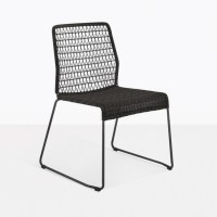 Edge Black Wicker Dining Side Chair | Restaurant Seating ...