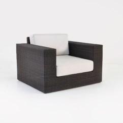 Patio Club Chair Small Toddler Austin Wicker Outdoor Java Furniture Teak 0