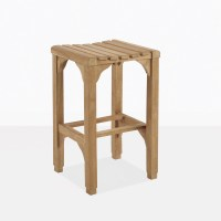 Classic Teak Backless Bar Stool | Outdoor Pub Furniture ...