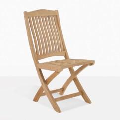 Teak Folding Chair Desk Footrest Kensington Side Outdoor Patio Dining Kinsington For