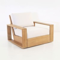Kuba Teak Outdoor Club Chair | Patio Lounge Furniture ...