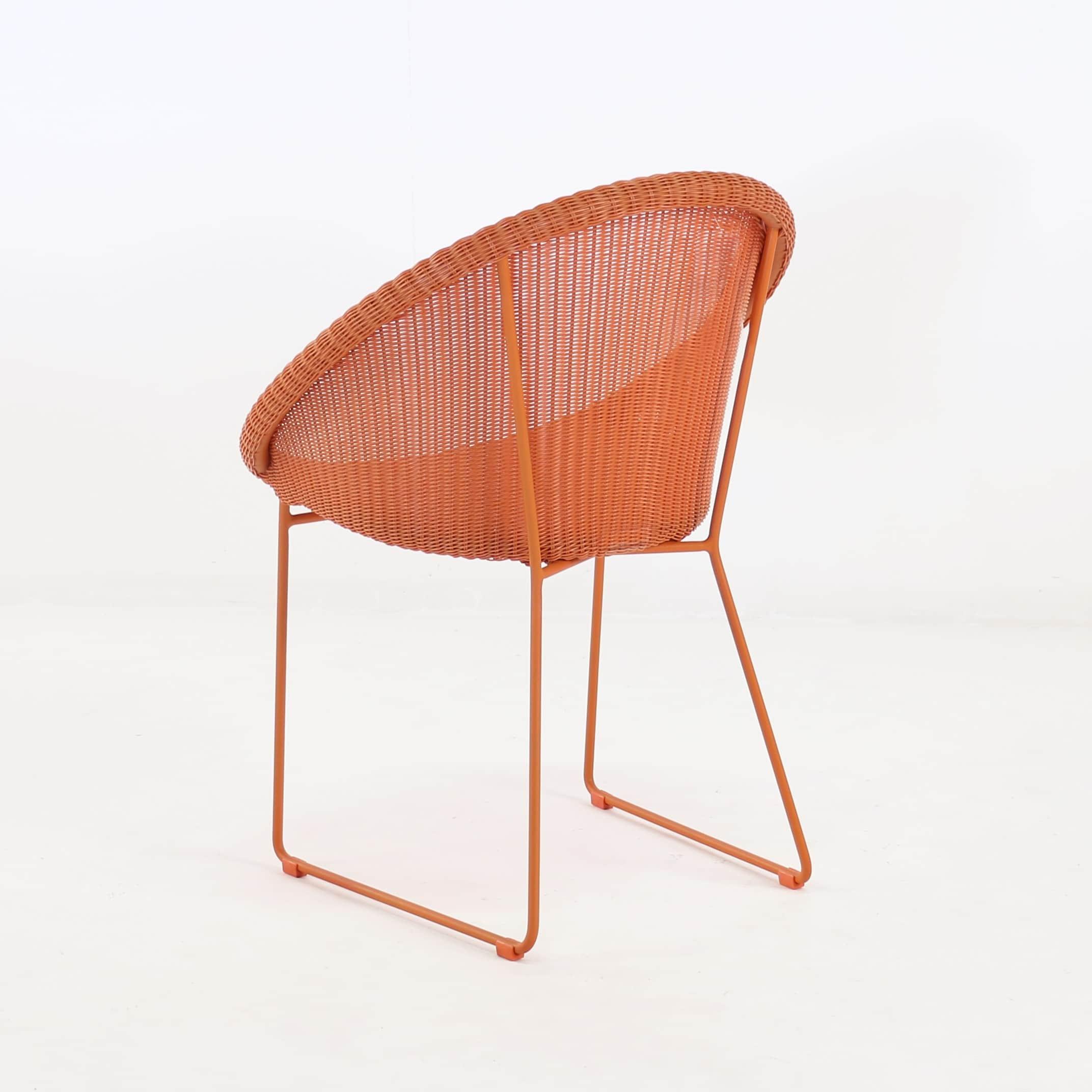 orange wicker chair cushions cheap outdoor lounge chairs metro dining teak warehouse
