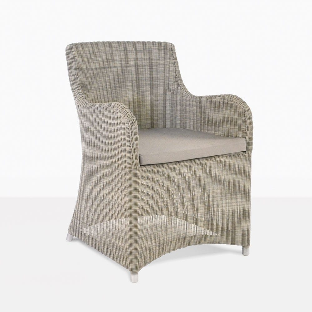 Wicker Outdoor Dining Chairs Moni Wicker Dining Chair Stonewash