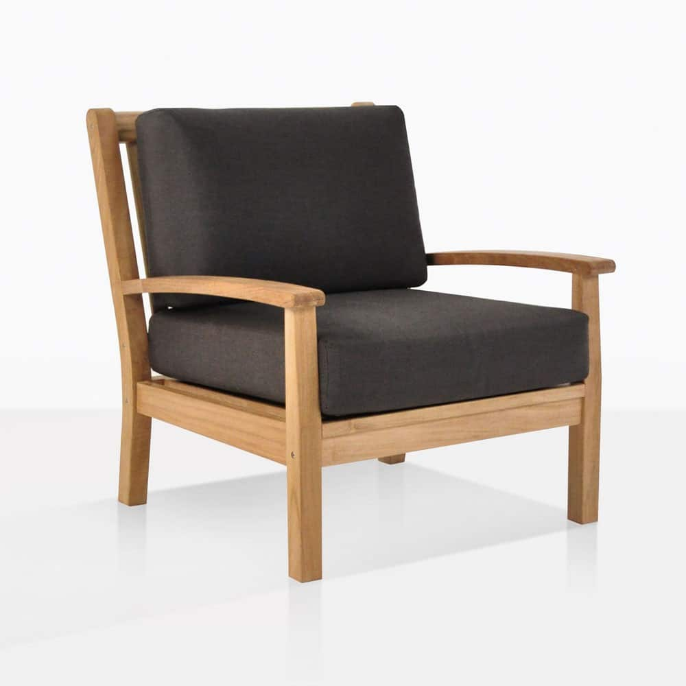 Wood Club Chair Naples Teak Outdoor Club Chair