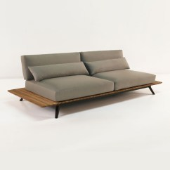 Outdoor Sofa Cushions Sunbrella Grey Leather Corner Next Platform Reclaimed Teak | Patio Couch ...