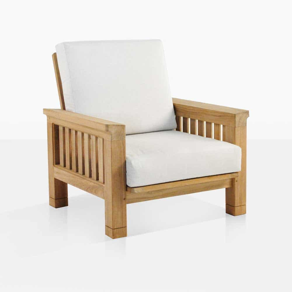 Wood Club Chair Raffles Teak Outdoor Club Chair