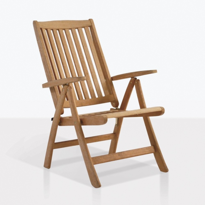 teak folding chair springs for dining room chairs st moritz reclining outdoor loungers and