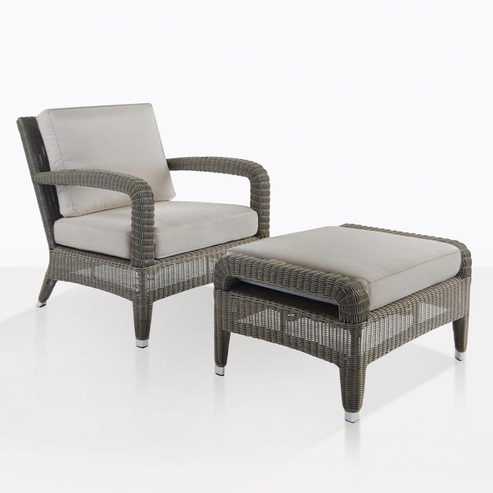 Aaron Chair Aaron Outdoor Wicker Chair And Ottoman Set Kubu