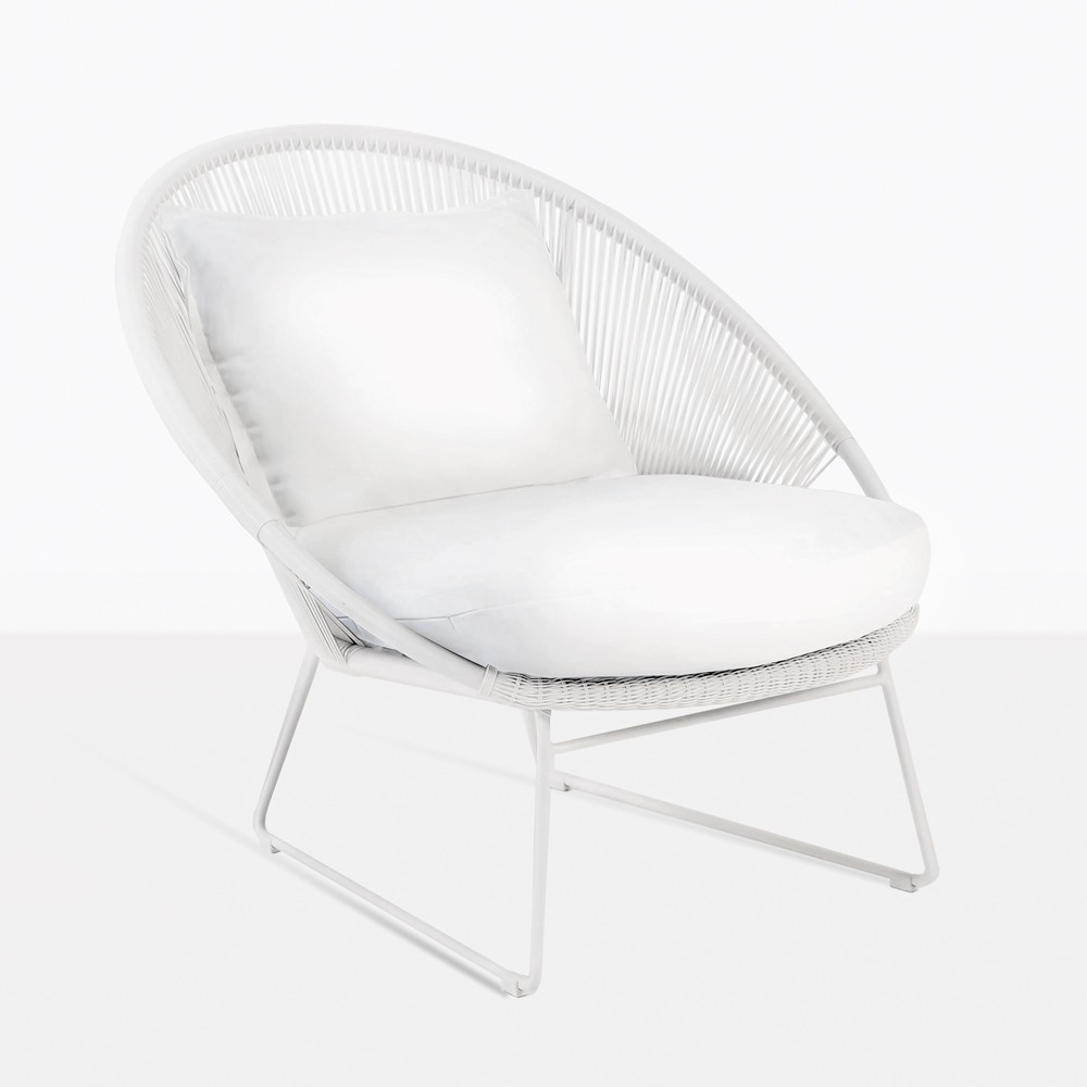 White Outdoor Lounge Chair Natalie Outdoor Relaxing Lounge Chair White