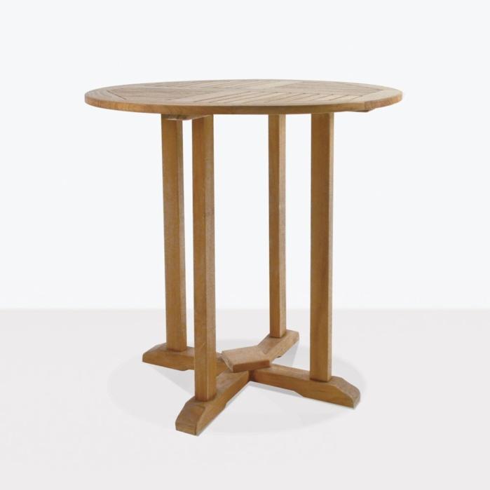round teak outdoor bar tables