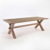 Rustic X-Leg Teak Dining Table | Dining Tables | Teak ...