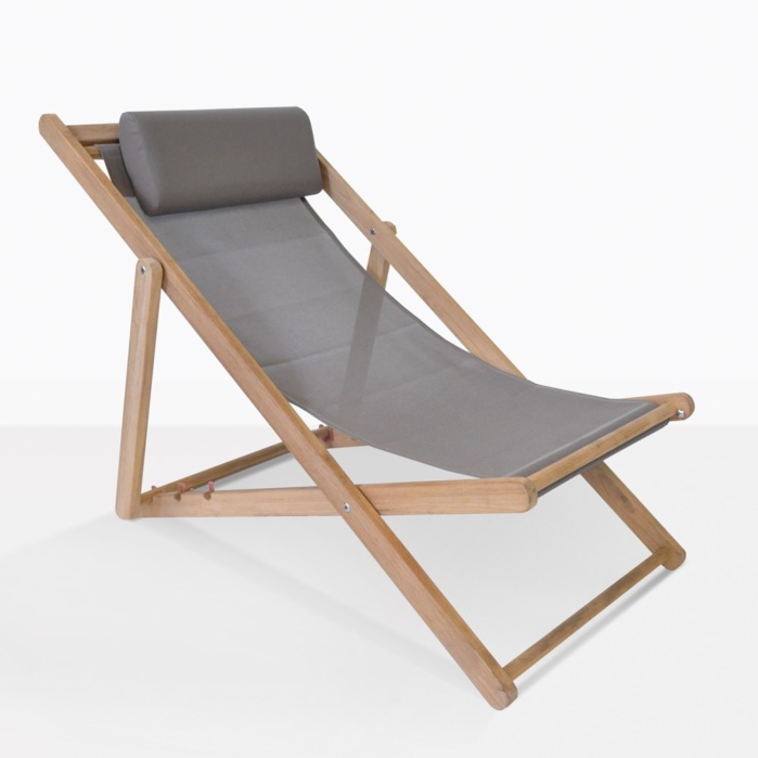 sling chair outdoor walmart slipcovers teak a grade furniture warehouse mesh and beach