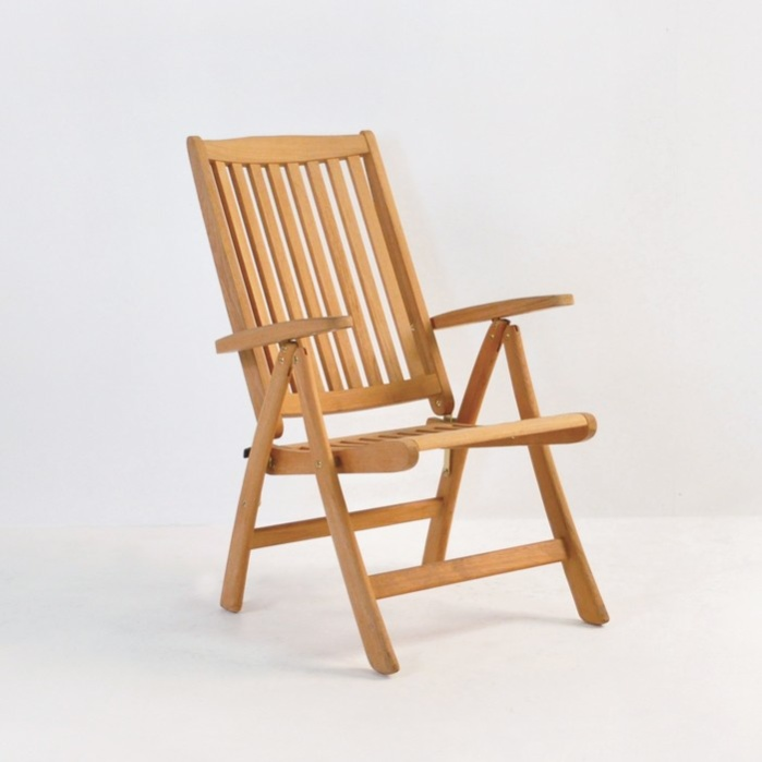 St Moritz Teak Folding Reclining Chair  Outdoor Loungers